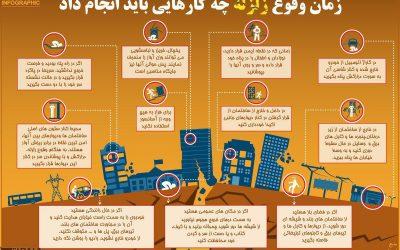 اطلاعیه چه کارهایی در زمان وقوع زلزله